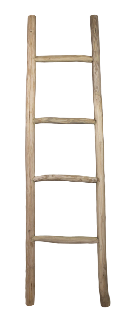 Decoratieve ladder teak