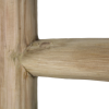 Decoratieve ladder teak detail